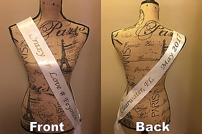 """custom pageant sashes 72"""" Full Wrap printed on front and back"""
