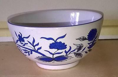 Chinese Tea Cup - Vintage - Wonderful  Floral Blue & Grey On Ground White