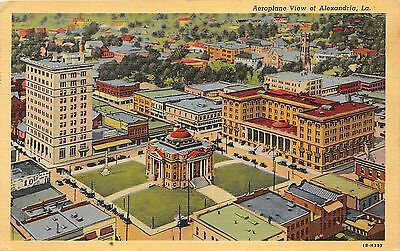 Alexandria Louisiana~Aerial View Showing Civic Center-City Hall-High School~1946
