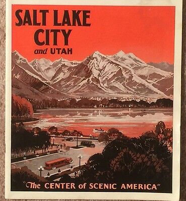 "1926 Salt Lake City And Utah  Scenic Booklet 28 Pages 8""x 9"" Chamber Of Commerce"