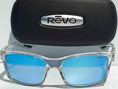 79dceed5d9 NEW  REVO CRAWLER CLEAR w Blue POLARIZED Lens Sunglass RE 1027 09 BL