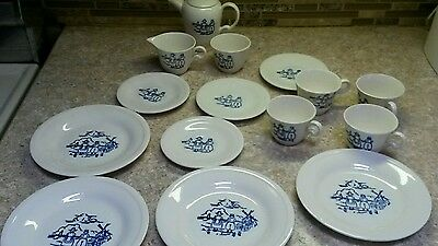 Edwin Knowles China 16 piece DUTCH Tea Set/Demi Cups 1 Cup Pot~Collectible Cute!