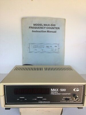 GLOBAL SPECIALITIES MAX 500 Frequency Counter With Manual