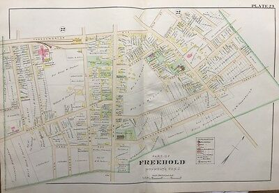 1905 Monmouth County New Jersey Freehold Institute St. Rose Of Lima Ch Atlas Map