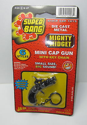 Super Bang Diecast Metal Mini Cap Gun Keychain Pirate Pistol Ja-Ru #903