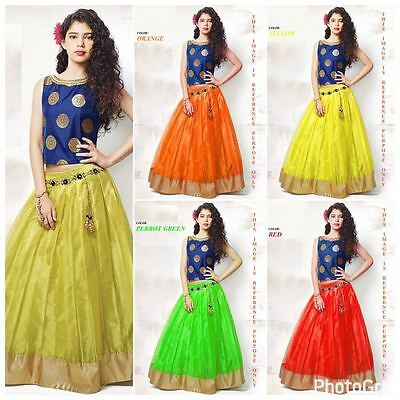 Indian Kids Girls Gown Designer Bollywood Wedding Party Wear Lahenga Choli Suit