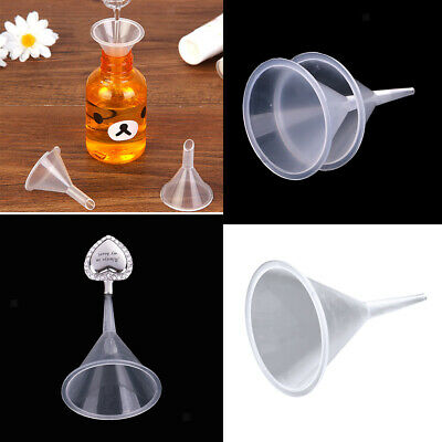 3pcs 40mm Mini Funnel Plastic Small Funnels For Cremation Jewelry Fill Kit