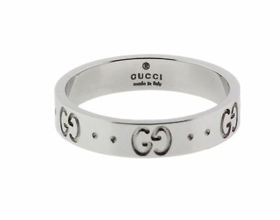 7980a08629fc1f Gucci Icon thin band band ring in 18 karat white gold new in box size 5.25