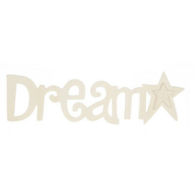 Unfinished Sign Wood Plaque- DREAM- Child Nursery Room Wall Hanging Decor