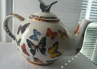 Paul Cardew Butterfly Teapot Designer Designed In England Large