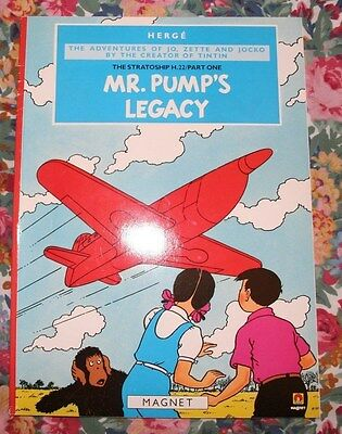 herge Jo Zette Jocko Mr Pump's Legacy. book like tintin v good condition