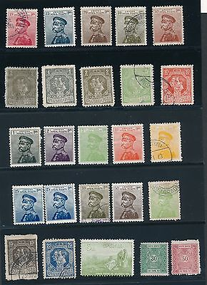 Serbia (25) MOSTLY KING PETER ISSUES (1895-1920); MH & USED; SOUND; AS SHOWN
