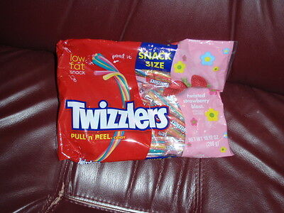 TWIZZLERS 10.12oz Bag TWIZTED STRAWBERRY BLAST Snack Size Candy EASTER Ex.11/17