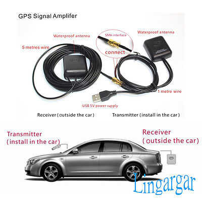 GPS Antenna Amplifier Receiver Repeater for Android Phone Car navigation Tool