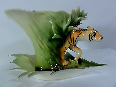 Franz Porcelain Tiger Cup & Saucer - Detailed Wonderfully