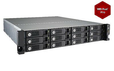 QNAP TVS-1271U-RP-i5 72TB (12 x 6TB WD RED PRO) 12 Bay with 16GB RAM 24 Months W