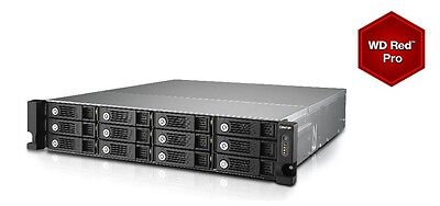 QNAP TVS-1271U-RP-i3-8G 24TB (12 x 2TB WD RED PRO) 12 Bay with 8GB RAM 24 Months