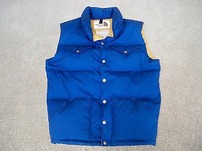Vintage The North Face Men's Brown Label Down Puffy Vest Size Large Made in USA