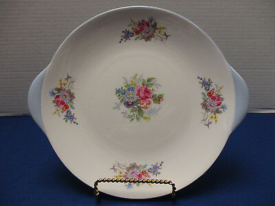 "Shelley Georgian 10"" Cake or Biscuit Plate England Blue Trim #2521"