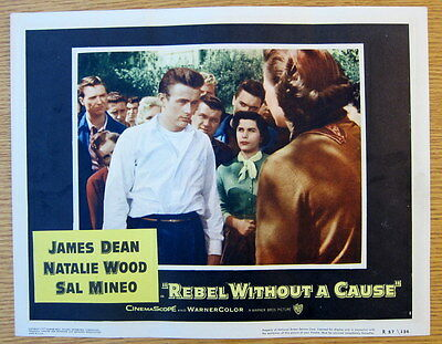 REBEL WITHOUT A CAUSE LOBBY CARD 1957 RR | James Dean Original LC