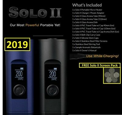 NEW 2019 Arizer Solo II Portable Digital Temperature + Free Solo II Screen Pack