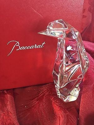 MIB FLAWLESS Stunning BACCARAT France Crystal ORIGAMI PENGUIN Sculpture Figurine