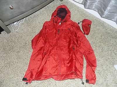 REI Red Packable Rain Jacket in Unisex Size Large-EUC