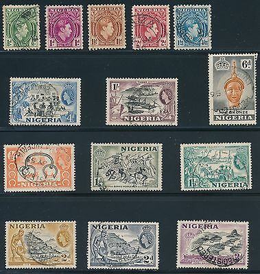 Nigeria (14) USED ISSUES (1938-1953); ALL SOUND; AS SHOWN
