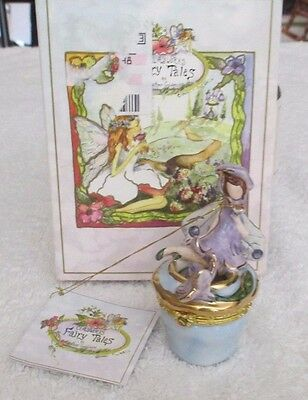 2002 Blue Sky Clayworks Heather Goldminc Periwinkle Fairy Trinket Hinged Box