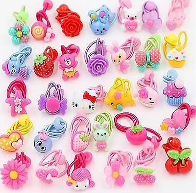 50 x Baby Girl Kids Hair Bands Elastic Ties Ponytail Holder Accessory Promotion