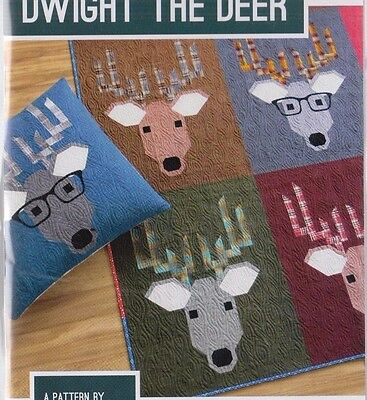 Dwight the Deer - fun modern pieced quilt PATTERN - 3 sizes - Elizabeth Hartman