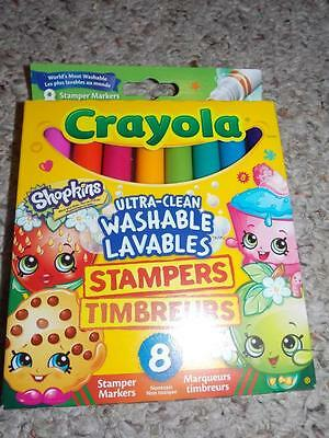 Shopkins Crayola Washable Markers Stampers 8pk New