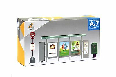 TINY Hong Kong City Ax7 1/43 Road Accessory Set Color Painted Model Dioramas