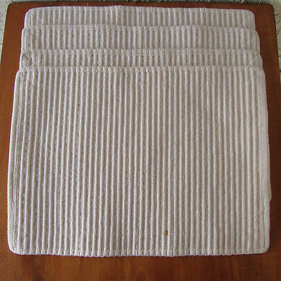 4 White Cotton Ribbed Placemats Heavy Weight Set of 4 Oatmeal