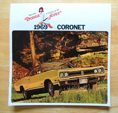 DODGE CORONET orig Large Format 1969 USA Mkt Brochure - 440 500 R/T Super Bee