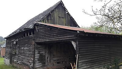 French barn for demolition and salvage. Slate tiles and many hardwood beams