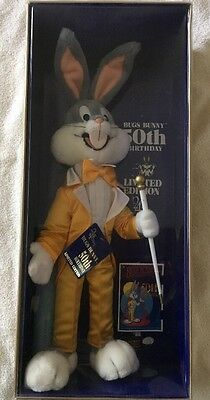 BUGS BUNNY-50th BIRTHDAY-LIMITED EDITION-1990 WARNERS BROS-THE 24k CO-NEW