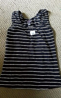 Oh Baby Maternity Motherhood Striped Tank Top Size M Black White NEW