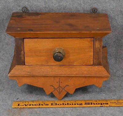 wall box hanging drawer Eastlake wood antique original 1890