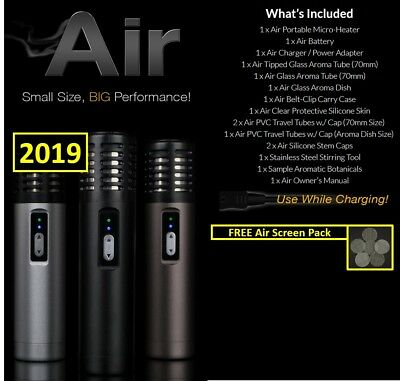 NEW 2019 Arizer Air Portable Digital Temperature + Free Air Screen Pack