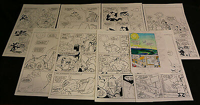 Felix the Cat in Sunny Funny Business Complete 8 Page Story with Color Guides