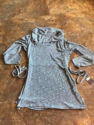 NWT Oh Baby by Motherhood Maternity Soft Lightweight Cowl Neck Sweater L XL Blue