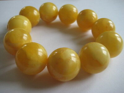 Bernsteinarmband Baltic Amber Bracelet Butterscotch Balls 24 mm
