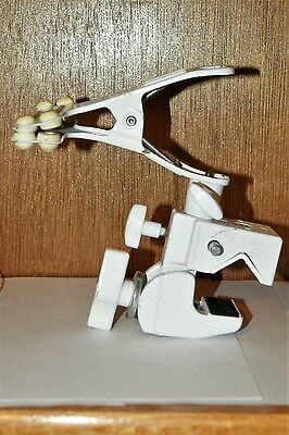 Manfrotto #035 White Super Clamps with #175 Spring Clamps and Studs- Lot of 2