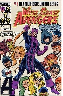 West Coast Avengers issues 1-4 complete miniseries