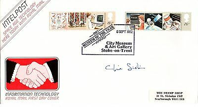 """Clive Sinclair """"Information Technology"""" FDC 1982 RARE POST MARK"""
