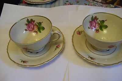 Syracuse Victoria Federal Cup and Saucer set of 2 cups and saucers NICE