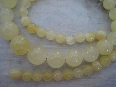 Bernsteinkette Baltic Amber Necklace Gelb-Yellow Beads Balls