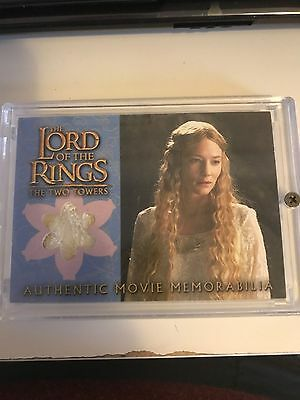 Topps Lord of the Rings LOTR Two Towers Galadriel Costume wardrobe card