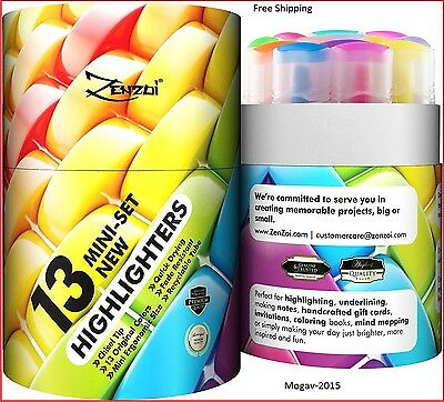 Highlighters Markers Assorted Colors Highlighter Marker Pens – Big Pack of 13